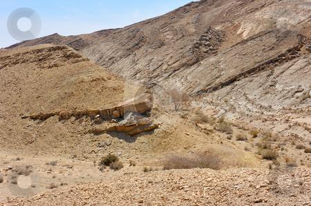 Makhtesh Ramon stock photo, Stones of Makhtesh Ramon, unique crater in Israel by Vladimir Blinov
