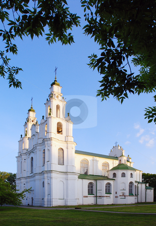 The Orthodox Church in Polotsk, Belarus stock photo, Orthodox St. Sophia Cathedral in Polotsk, Belarus. by Vladimir Blinov