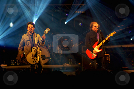 Portuguese rock band. stock photo, Portuguese rock band in concert. by Inacio Pires