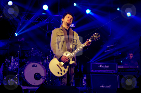 Portuguese rock band in concert. stock photo, Portuguese rock band in concert. by Inacio Pires