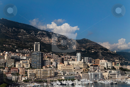 Monaco Harbor stock photo, The skyline and harbor of downtown Monaco by Kevin Tietz