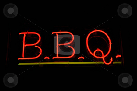 BBQ Barbecue Neon Sign stock photo, BBQ Barbecue Neon Sign by Brandon Bourdages