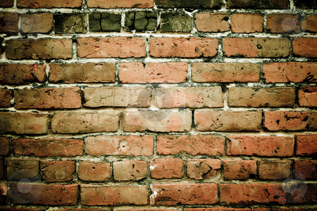 Grunge Brick Wall Background stock photo, Grunge Brick Wall Background by Brandon Bourdages
