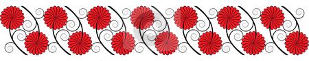 Seamless flower border stock vector clipart, Seamless flower border by Cristinel Zbughin
