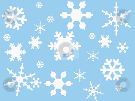 Winter Scene stock photo, Winter Scene, Illustration by Wanda Anthony