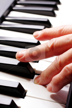 Piano stock photo, Piano close up on the keyboard by Keng po Leung