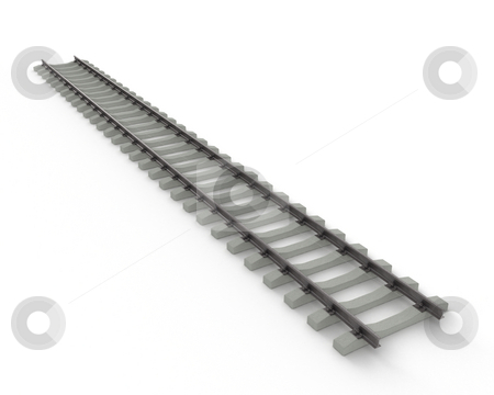 Stock of rails stock photo, Stock of rails isolated on white background by Zelfit