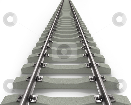 Long Rails Textured  stock photo, Long Rails Textured isolated on white background by Zelfit