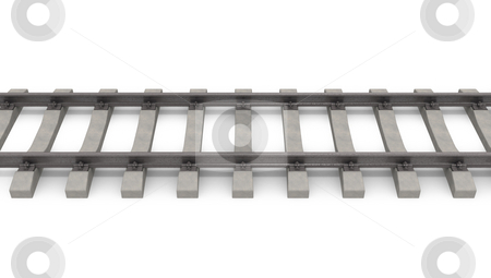 3d rails horizontal stock photo, 3d rails horizontal isolated on white background by Zelfit