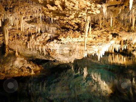 Underground Wonder stock photo, An underground wonderland - a magnificent cave in Bermuda. by Mary Lane