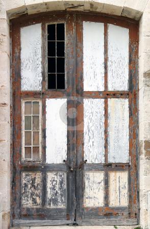 Dockyards Door stock photo, Door and windows on one of the historic buildings in the Dockyards complex, Bermuda. by Mary Lane