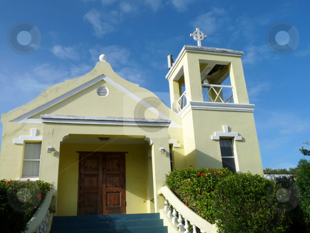 Bermuda Church stock photo, A lovely little gem of a church, in Hamilton, Bermuda. by Mary Lane