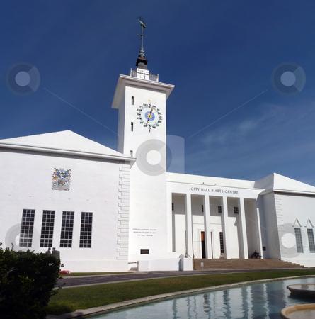 Hamilton City Hall stock photo, The absolutely gorgeous city hall, Hamilton,  Bermuda. by Mary Lane