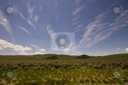 Utah Skies stock photo, The big sky of Utah, high up on a mountain meadow. by Mary Lane