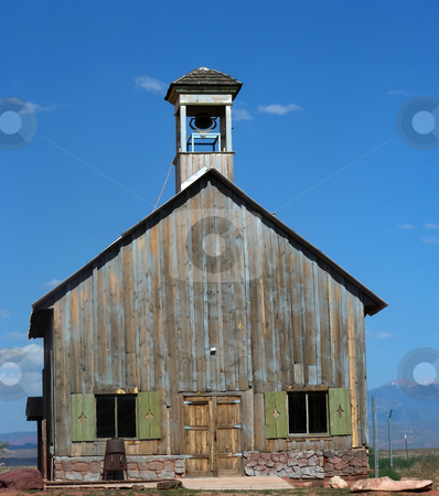 Historic Western School stock photo, An old school house, near Moab Utah. by Mary Lane