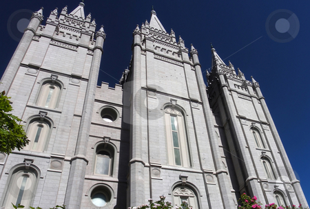 Mormon Temple stock photo, The amazing Mormon Temple in Salt Lake City even looks terrific from the back. by Mary Lane