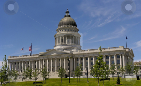 Utah State House stock photo, Very elegant looking - the Utah State House, Salt Lake City. by Mary Lane