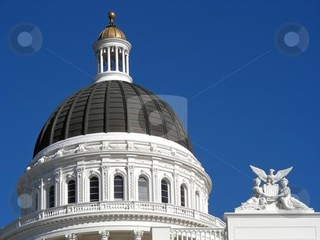California Dome stock photo, Classic dome on the California State House, Sacramento, California. by Mary Lane