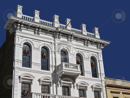 Old West stock photo, Historic old western buildings, downtown Sacramento, California. by Mary Lane