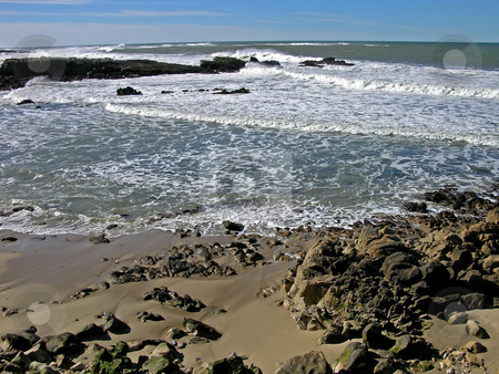 California Beach stock photo, A beach on the Pacific, Northern California. by Mary Lane