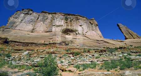 Arches Mesa stock photo, A panoramic view of a mesa, Arches National Park, Utah. by Mary Lane