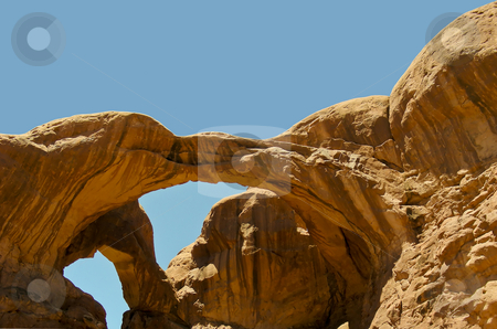 Double Arch stock photo, The Double Arch rock formation in Arches National Park, Moab, Utah. by Mary Lane