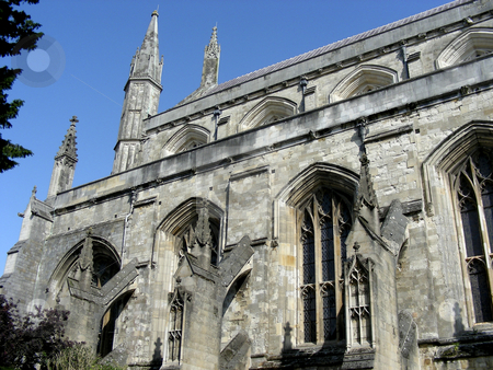 Winchester Cathedral stock photo, The medieval spires of historic Winchester Cathedral, Winchester, England. by Mary Lane