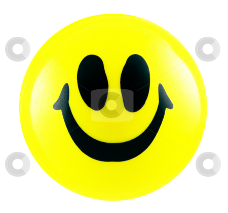 Smiley stock photo, Smiley isolated in white by Georgios Kollidas
