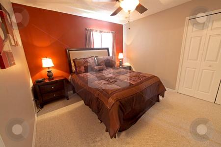 Queen Bedroom stock photo, A Queen Bedroom, Interior Shot of a Home by Lucy Clark
