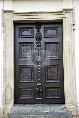 Old pattern door stock photo, Old pattern door in Prague by Sasas Design