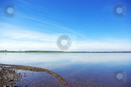 Landscape of Alqueva lakel. stock photo, Landscape of Alqueva lake, south of Portugal. by Inacio Pires