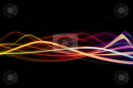 Waves of Color stock photo, A background design with waves of bright colors. by Stephen Gibson