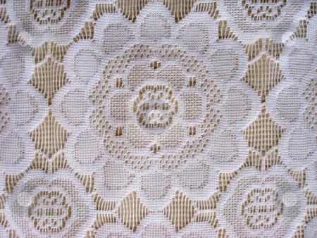 beautiful white lace background stock photo, Texture of beautiful white lace background by Ingvar Bjork