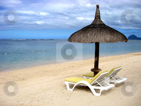 Tropical beach in Mauritius  stock photo, Tropical beach in Mauritius by Ingvar Bjork