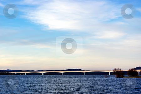 Bridge in Alqueva lake. stock photo, Bridge in Alqueva lake, Alentejo region, Portugal. by Inacio Pires