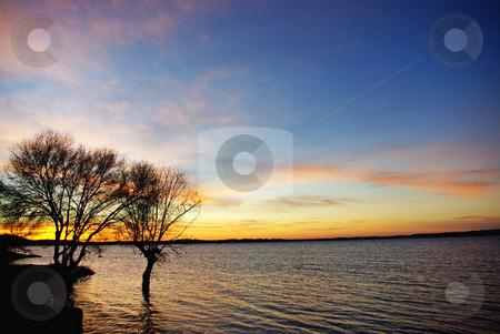 Sunset in the lake Alqueva. stock photo, Sunset in the lake Alqueva, Alentejo, Portugal. by Inacio Pires