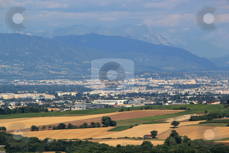 Geneva area, Switzerland stock photo, View of Geneva canton with its city and rural area, Switzerland by Elenarts