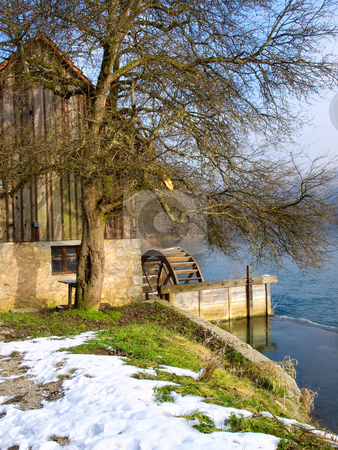 Old Mill stock photo, Old watermill on the mountain river known as Mreznica in Croatia. by Sinisa Botas