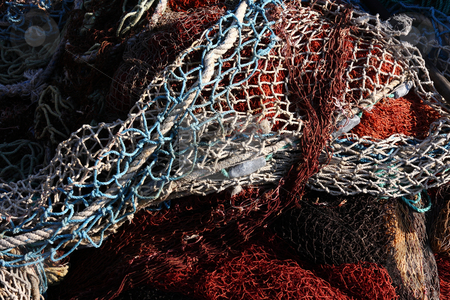 Group of colorfull fishnet stock photo, Group of colorfull fishnet by Roberto Giobbi