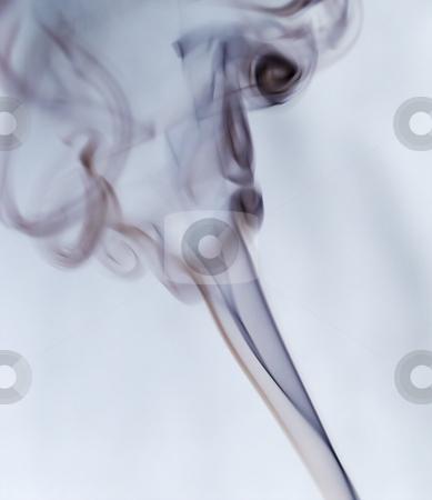 Smoke stock photo, Black smoke flying over a white background by Fabio Alcini