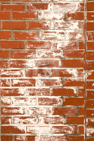 Vintage red brick wall stock photo, Texture of old, vintage red brick wall by caimacanul