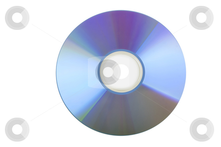 Blank CD or DVD stock photo, Blank CD or DVD on white background by caimacanul