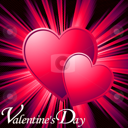 Valentine card stock photo, Valentine card illustration, no mesh or transparency by Richard Laschon