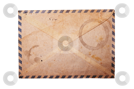 Vintage envelope isolated. stock photo, Vintage envelope on white background, clipping path. by Pablo Caridad