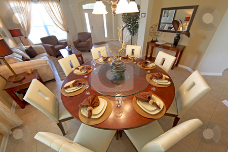 Dining Room stock photo, A Dining Room, Interior Shot of a Home by Lucy Clark