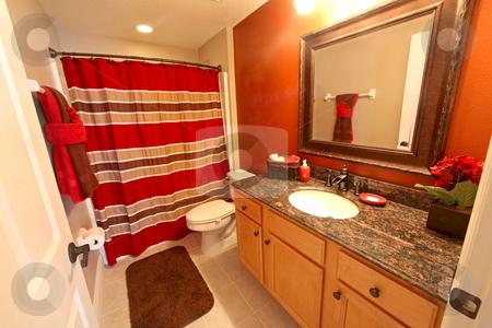 Bathroom stock photo, A Bathroom, Interior Shot of a Home by Lucy Clark