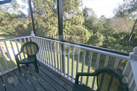 Balcony stock photo, A Balcony of a Home overlooking Conservation by Lucy Clark