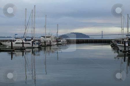 Boats stock photo, Group of boats at harbour by Olena Pupirina