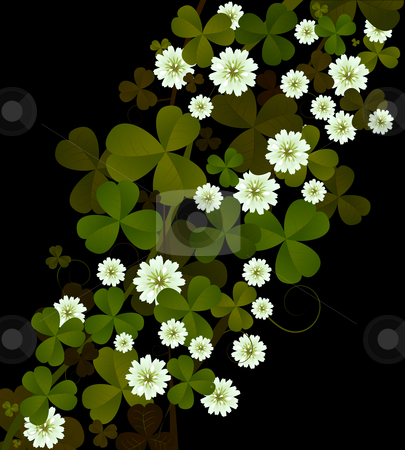 Clover background stock photo, Clover background, design for St. Patrick's Day by Richard Laschon