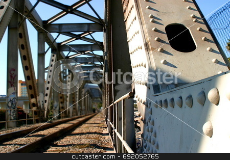 Train Bridge stock photo, Train bridge in Ventura California by Henrik Lehnerer
